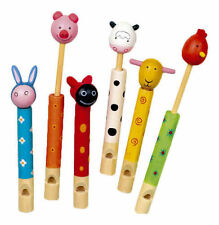 WOODEN ANIMAL FLUTE WHISTLE TOY BOYS GIRLS GIFT FAVOR CHRISTMAS STOCKING FILLER