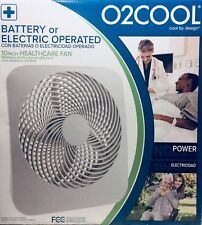 """O2COOL 10"""" Battery or Electric Operated Portable Fan (Ship to Puerto RIco & VI)"""