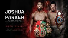 ANTHONY JOSHUA & JOSEPH PARKER HEAVYWEIGHT CHAMPIONSHIP OFFICIAL POSTER PHOTO