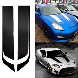 2x 85cm Black Racing Sports Car Hood Mount Sticker Bonnet Stripe Decal Universal