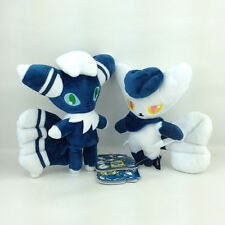 "2X Meowstic Pokemon XY Plush Soft Toy Stuffed Animal Cat Female 6.6"" & Male 7"""