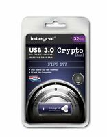 Integral 32GB CRYPTO DUAL USB 3.0 Encyrpted Flash Drive with FIPS 197 Security.