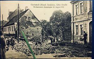 """AK Gerbstedt(Otto-Straße,1925Katastrophe)""""Mansfelder-Seekreis;Hettstedt;Alsleben"""
