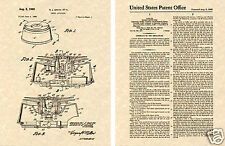 1st US Patent  of SMOKE DETECTOR Art Print READY TO FRAME!!!!!  Fire Alarm