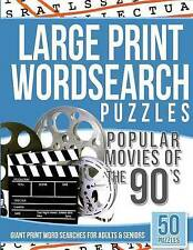 Large Print Wordsearches Puzzles Popular Movies of the 90s: Giant Print Word Sea