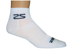 Zensah Cycling Socks White Bicycle Socks (PAIR)