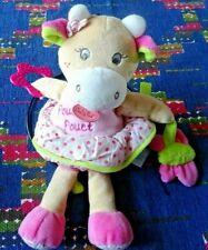 Babynat Doudou Chat pantin d/'activités Nina rose hochet bébé 30 cm BN003 NEUF