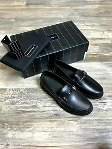 Ermenegildo Zegna Shoes Black Leather Shoes Sz 7 US WIDE 40 EU 6UK Zegna WIDE