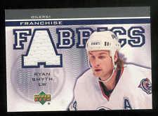 2003-04 UPPER DECK FRANCHISE FABRICS RYAN SMYTH JERSEY EDMONTON OILERS #FF-RS