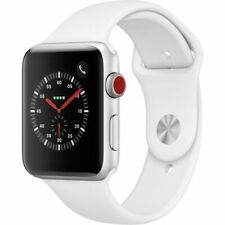 Apple MTGR2LL/A Series 3 42mm Smartwatch - Silver Aluminum Case/White Sport Band