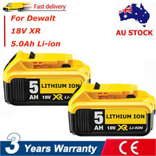 2x Battery For Dewalt DCD740 DCD780 DCD790 DCD985 18V DCB184-XE 18V 5Ah Li-ion