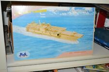 Woodcraft Aircraft Carrier Construction Kit 3-D Wood Model P048 Large