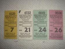 4 Pre-decimal Wainfleet Motor Services Ltd, Nuneaton, bus tickets