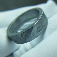 Meteorite ring seymchan Widmanstatten pendant mineral amulet iron inner φ18.1mm