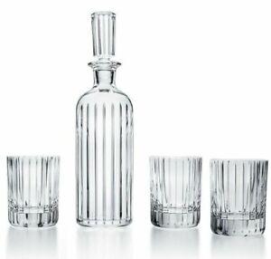 BACCARAT HARMONIE FRENCH WHISKY SPIRITS ALCOHOL CRYSTAL DECANTER &TUMBLER SET