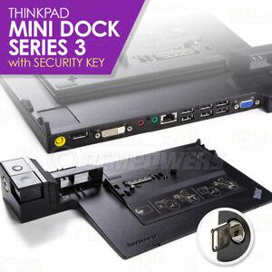 Lenovo ThinkPad Mini Dock Station Series 3 w/Key T410 T400s T510 T530 X220 X230
