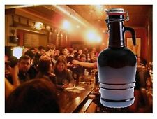 BEER GROWLER SWING TOP AMBER GLASS FLIP TOP GLASS HANDLE 2 LITER BEER BOTTLE