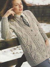 4dc3303fd02c Ladies Aran Cardigan Knitting Patterns