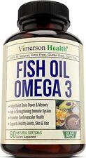 Omega 3 Fish Oil Pills, All Natural Non-Gmo, Gluten Free, Supports Brain, Memory