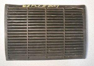 1963 63 Plymouth Savoy non padded DASH SPEAKER GRILLE tabs intact MoPar 2161904