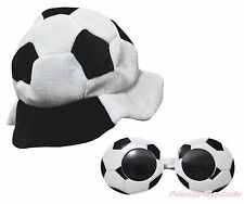 Sports World Cup Football Soccer Warm Hat Party Costume Headgear Cap Glasses 2PC