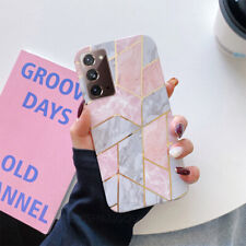 Geometric Marble Case Cover For Samsung S21+ A42 5G Note 20 Ultra S20FE A21S A71