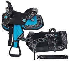 """8"""" Miniature Western Saddle - Starlight Collection - 5 Pc Pkg - Turquoise Cross"""