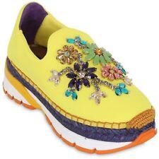 Dolce gabanna Embelli Baskets Baskets Chaussures UK 6-7/IT39-40 NEUF