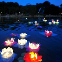 Wholesale Lotus Flower Floating Paper Wishing Lamp Water Light Chinese Lanterns