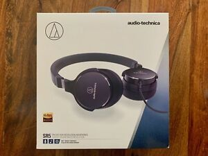 NEW Audio-Technica ATH-SR5BK On-Ear High-Resolution Audio Headphones, Black