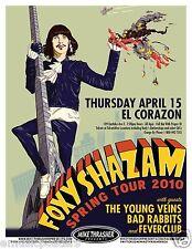 "FOXY SHAZAM ""TOUR 2010"" SEATTLE CONCERT POSTER - Eric Nally Climbing Building"