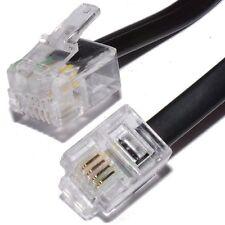 15 M ADSL Internet a banda larga RJ11 a RJ-11 Cavo Di Piombo-Nero Lungo 15 metri DSL