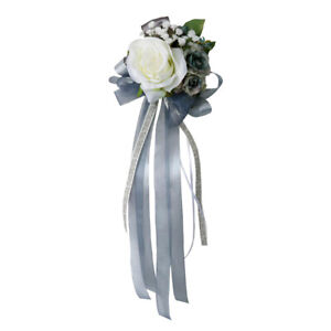 Wedding Car Artificial Silk Flower and Ribbon Party Decoration