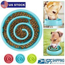 Pet Dog Cat Interactive Slow Feeder Bowl Funny Maze Healthy Gulp Feed Dish Bowl
