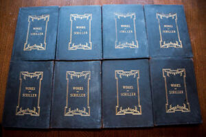 Works of Schiller 1883 Leather VG+ Compl Set of 8 Profusely Illustrated Gorgeous