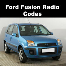 Ford Fusion Radio Code Stereo Codes Pin Car Unlock Fast Service 6000CD