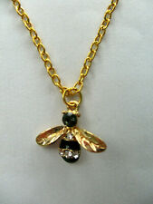 CRYSTAL BEE PENDANT NECKLACE