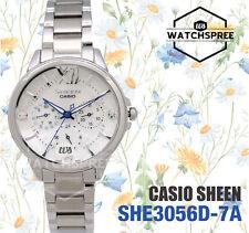 Casio Sheen Swarovski Crystals Multi-hand Watch SHE3056D-7A
