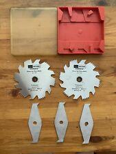 "Vintage Sears Craftsman Groover & Dado Cutters Blade Set 6"" - 5 Piece"