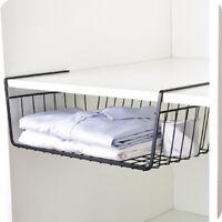 1X Under Shelf Hanging Wire Basket Rack Storage Kitchen Wardrobe Organizer Tool