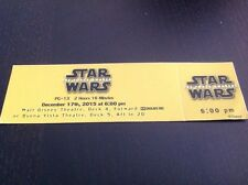 Star War Original Movie Ticket Premear At Sea Disney Cruise Line DCL