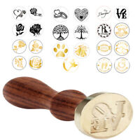 Vintage Handle Pattern Stamp Wooden Wax Seal For Wedding Invitation Gift Cards