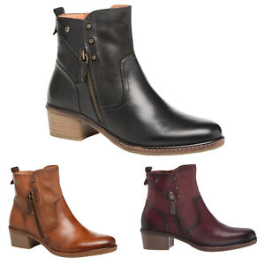 Pikolinos Zaragoza Leather Casual Zip-Up Ankle Womens Boots