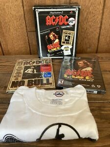 AC/DC Live Rockband Track Pack Playstation 2 Fan Pack T-Shirt No Bull DVD New