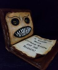 Witch's Spell Book with 3D Monster Face Halloween Haunted House  Prop