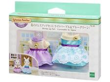 Sylvanian Families Dress up SET Light purple & Bluegreen Town Series From Japan
