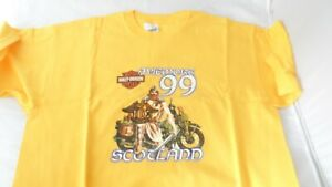 NEW Aviemore 1999 HOG rally T shirt Size XL Rare Harley-Davidson Rally T shirt