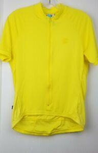 Cannondale Women's Cycling Chrono Jersey USA SIZE Small Bright Yellow