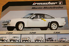 Irmscher Opel Manta i200 i240 i300 Sales Folder by Irmscher GmbH
