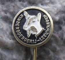 Antique Goat Head Children's Farm Leeuwarden Netherlands Holland Zoo Pin Badge